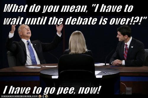 wait vice president debate pee paul ryan joe biden - 6715749376
