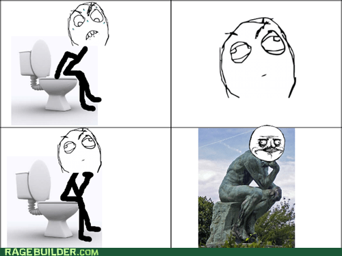 me gusta,statue,pooptimes,the thinker