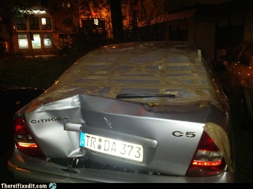duct tape,citroen,rear window,wiper