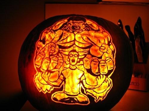 pumpkins art hulk