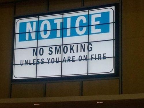on fire no smoking - 6716397056
