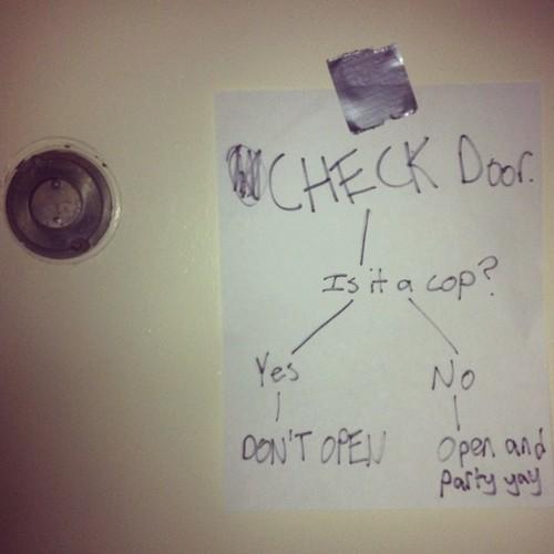 don't open cop Helpful Reminder check door - 6716448000