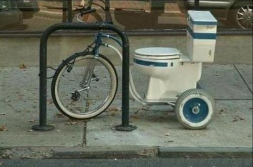 porcelain throne bicycle toilet toilet bike toilet toilet bicycle - 6716465152