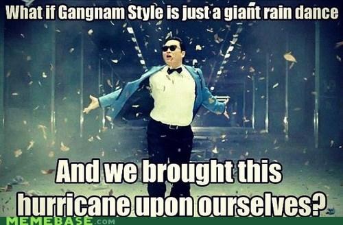 sandy,hurrican,Rain Dance,gangnam style