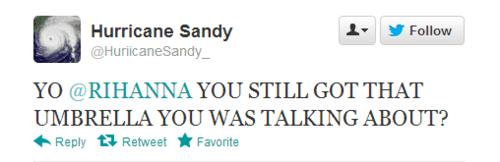 twitter,rihanna,hurricane sandy