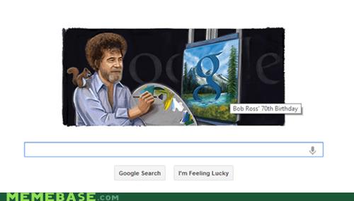 birthday doodle bob ross google - 6716673024