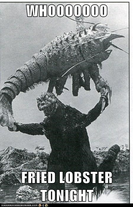 caught excited lobster fishing godzilla wooo - 6716820480