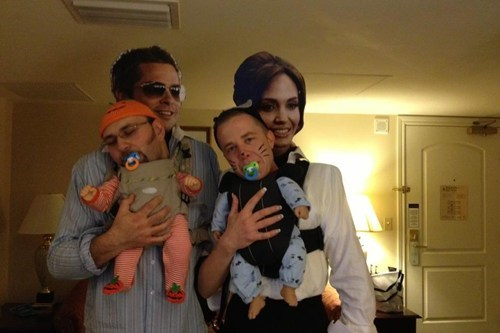 Babies halloween costumes brad pitt Angelina Jolie - 6716875520  sc 1 st  Cheezburger & Too White Doesnu0027t Really Work - Poorly Dressed - fashion fail