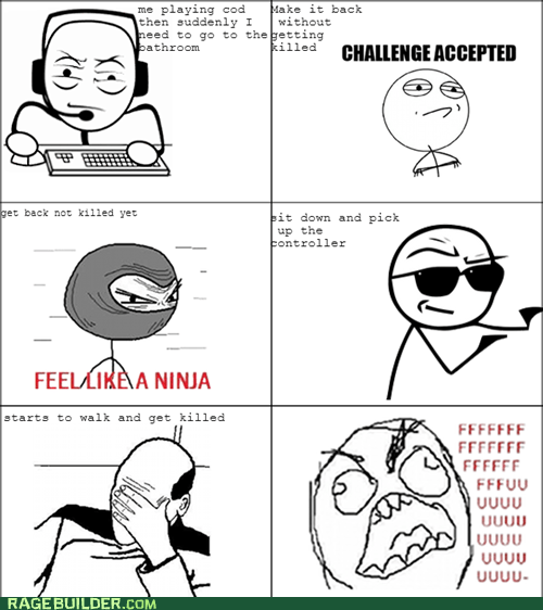 Challenge Accepted,picard facepalm,video games,feel like a ninja,fu guy