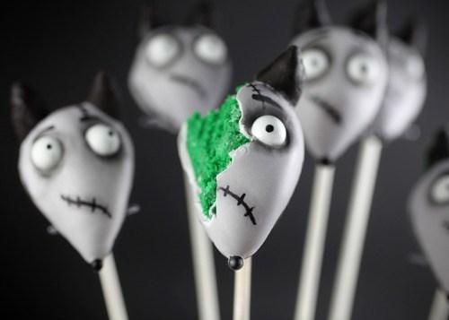 halloween,cake pops,noms,Frankenweenie,ghoulish geeks,food
