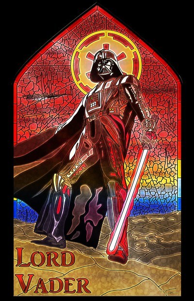 lightsaber art star wars Fan Art stained glass darth vader - 6717058048