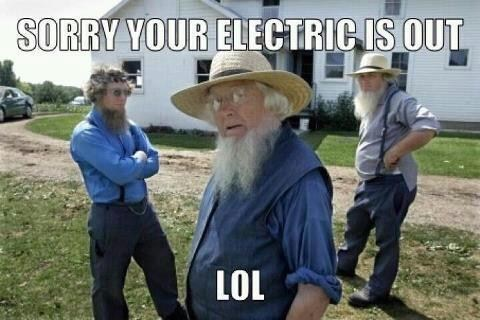 electricity,amish,hurricane sandy