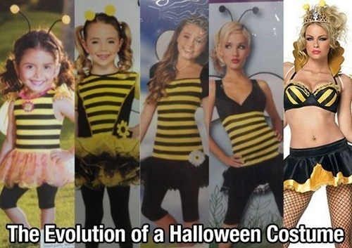 halloween costumes,evolution,sexy bumble bee