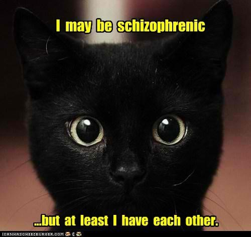 crazy captions mental illness classics Cats from the vault schizophrenic - 6717305088