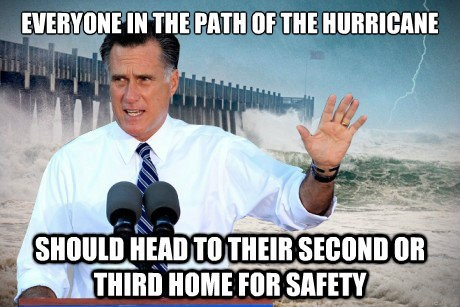 hurricane prepared Mitt Romney advice safety houses