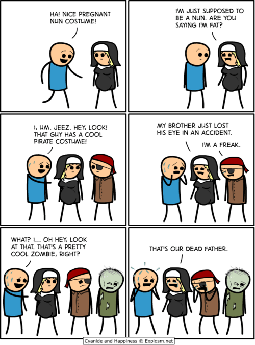 halloween costumes cyanide & happiness comic - 6717440768