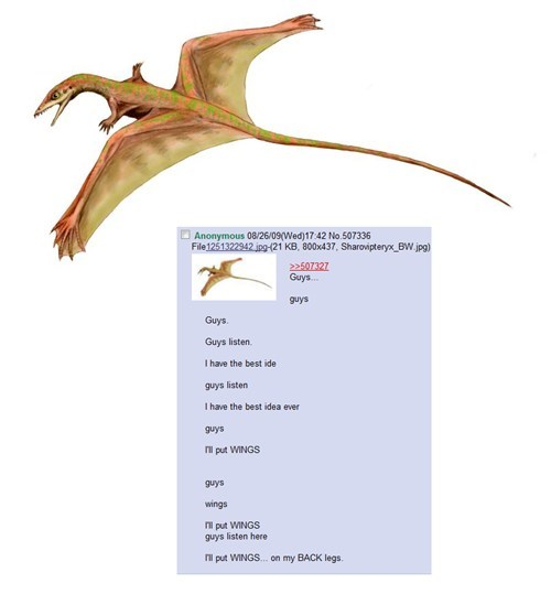 best idea wings 4chan dinosaur legs - 6717484800