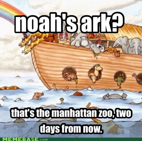 bible,noahs ark,manhattan,hurricane sandy