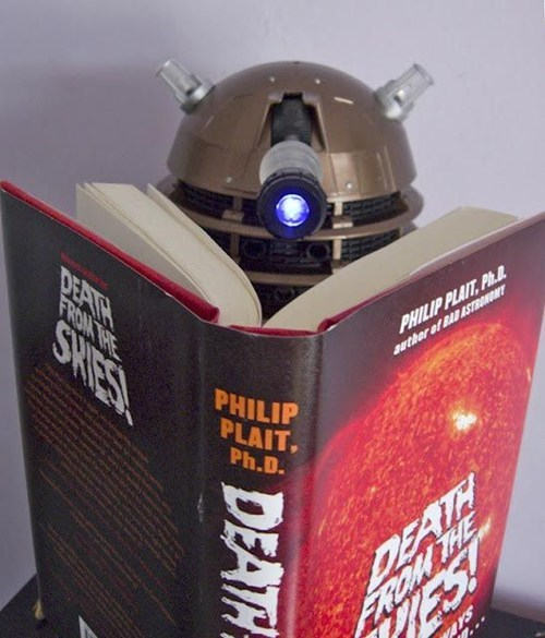 dalek reading Death Exterminate skies doctor who books