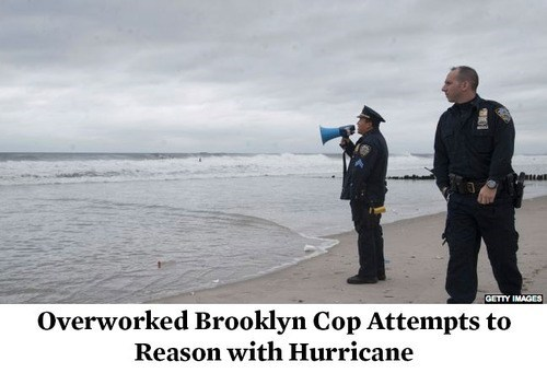 hurricane sandy brooklyn cop hurricane sandy NYPD new york city
