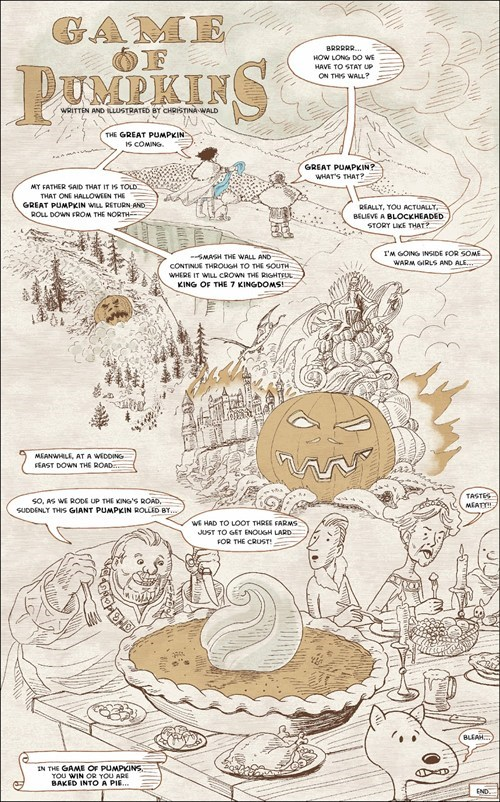 halloween Game of Thrones a song of ice and fire the great pumpkin comic pumpkins - 6717656064