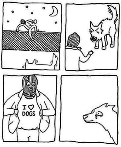 T.Shirt i love dogs comic burglars