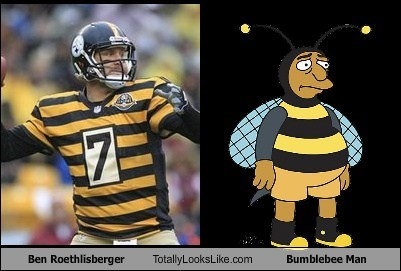 nfl,TLL,football,ben roethlisberger,the simpsons,funny,bumblebee man