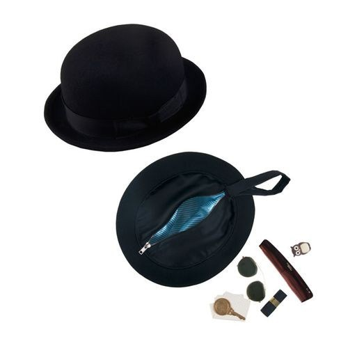 camouflage,purse,bowler,hat