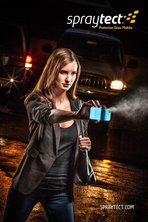 bad idea case cell phone pepper spray weapon protection - 6717856768