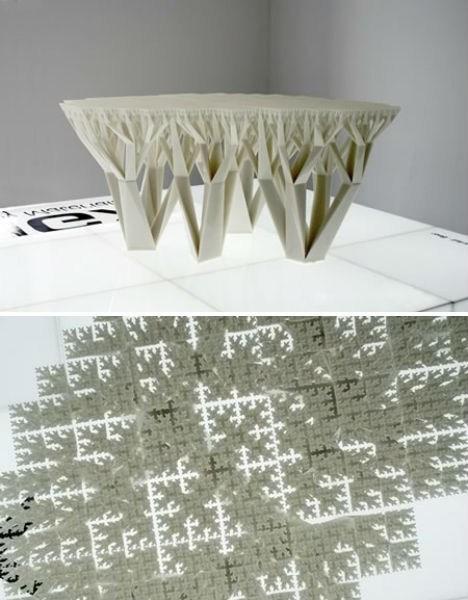 table design fractal artsy - 6717955328