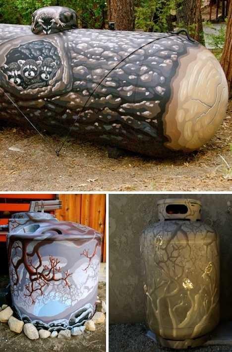 design hacked irl painting propane tank