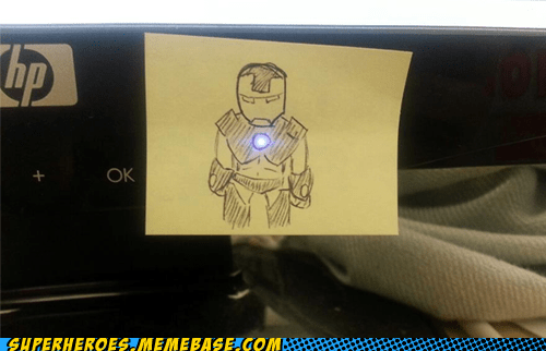 post it art iron man avengers - 6718086400