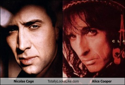 Nicolas Cage Totally Looks Like Alice Cooper