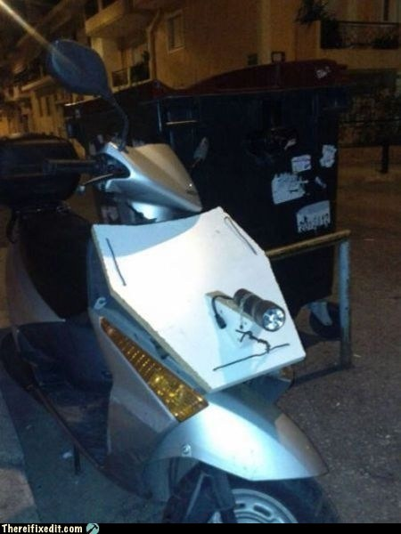 headlight scooter flashlight motorcycle - 6718178304