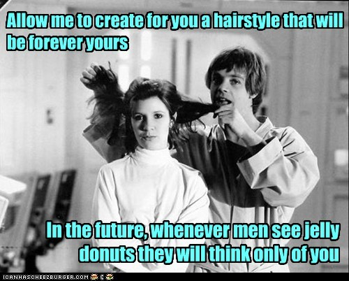 donuts,star wars,hairstyle,luke skywalker,carrie fisher,Princess Leia,Mark Hamill