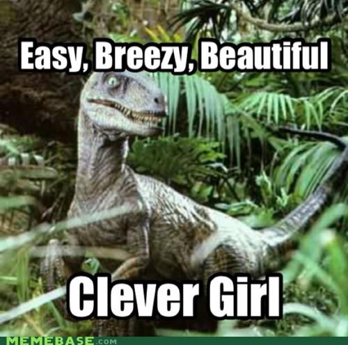 clever girl covergirl jurassic park velociraptor - 6718474752