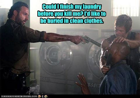 laundry Rick Grimes Andrew Lincoln daryl dixon norman reedus kill The Walking Dead - 6718512128