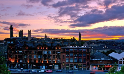 Glasgow,cityscape,evening,Travel