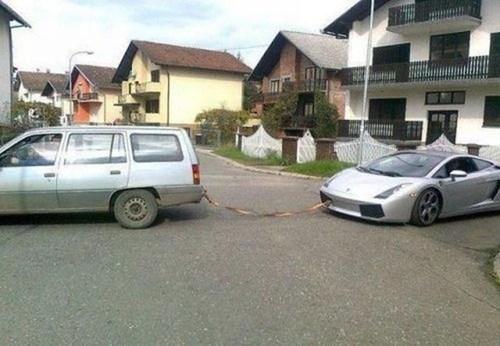 car towing cars driving DIY sports car - 6718809344