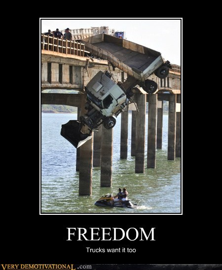 jet ski freedom wtf run idiot truck