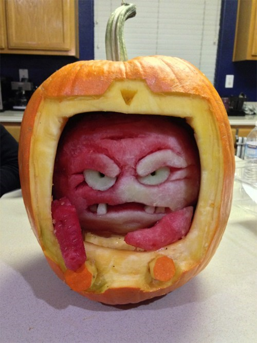halloween tmnt pumpkin Kraang ghoulish geeks jack o lanterns cartoons - 6719654656