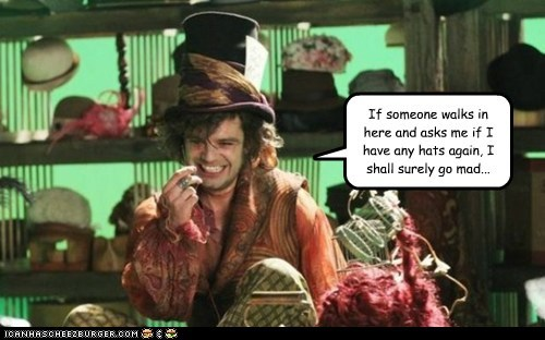 jefferson,mad hatter,once upon a time,sebastian stan,annoying,hats,mad,store