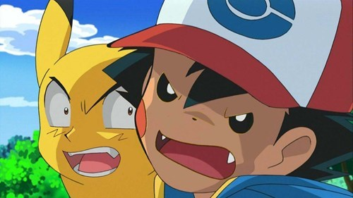 ash,faceswap,anime,pikachu