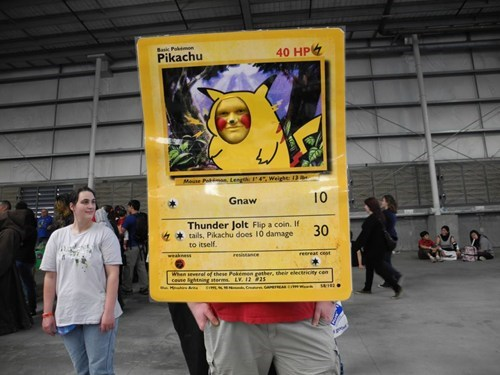 costume cosplay pikachu trading card - 6719938048