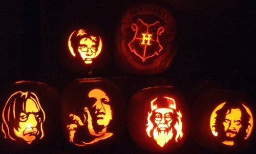 Harry Potter halloween jack o lanterns movies books pumpkins ghoulish geeks famously freaky g rated - 6719974144
