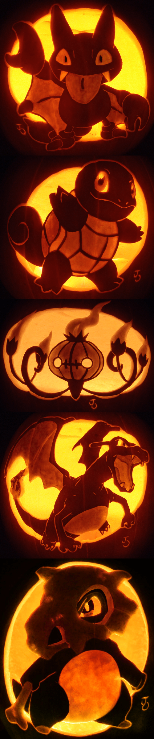 halloween squirtle gligar mad skillz pumpkin carving