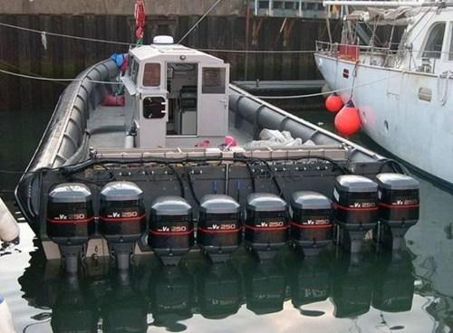 boat engine v8 motorboat boat - 6720037120