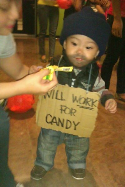 homeless kid,hobo,homeless baby,will work for candy,homeless guy