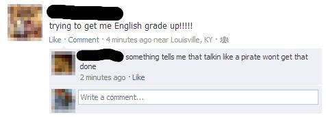 grammar english grades Pirate - 6720221440