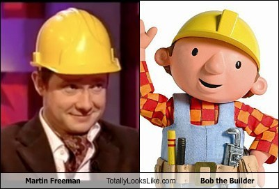 Martin Freeman actor TLL celeb funny bob the builder